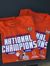 Clemson Tigers 2018-2019 Football National Championship LARGE T-Shirt  lot of 2 - $15.83
