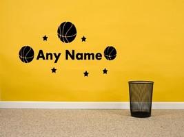 Personalizado Nombre con Pelotas de Baloncesto & 5 Estrellas Extraíble - $14.99