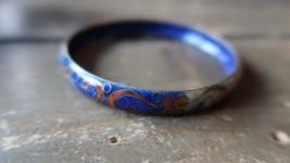 "ANTIQUE Chinese CLOISONNE Bangle Bracelet 2.5"" inner diameter GREAT COLORS - $58.90"
