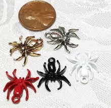 SPIDER FINE PEWTER PENDANT CHARM - 15x18x3mm image 2