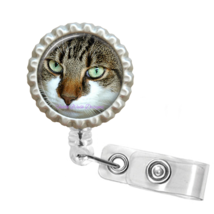 Cute Cat Face Retractable Reel ID Name Tag Badge Holder #6 - $10.00