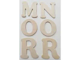"""Wood Pine 3.5"""" x 4"""" Alphabet Letters (See Description) image 2"""