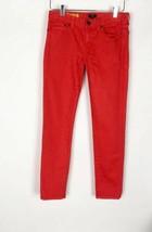 J Crew Toothpick Jeans Coral Orange Super Skinny Pants 77088 Womens Size 25 - $21.78