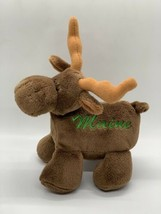 """Mary Meyer Plush Moose Brown 6"""" Soft Stuffed Animal Embroidered Maine So... - $8.20"""