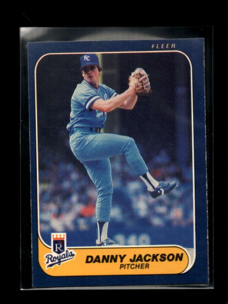 1986 FLEER #10 DANNY JACKSON EXMT ROYALS
