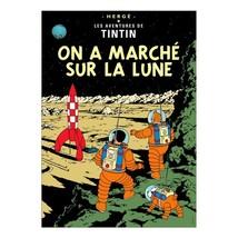 Explorers on the moon Tintin poster