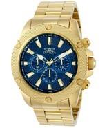Invicta Men's 22719 Pro-Diver Blue Dial Gold Tone Chronograph 48MM Case ... - $100.97