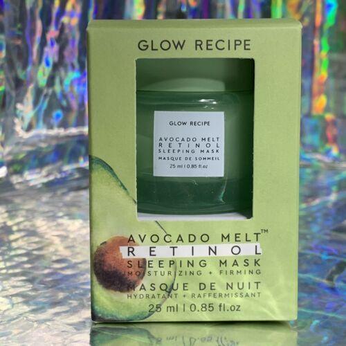 NEW IN BOX Glow Recipe Midi Size Avocado Melt Retinol Sleeping Mask 25mL Soften