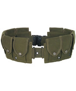10 Pocket M1 Garand Utility Cartridge Ammo Pouch Canvas Adj Batman Belt ... - $29.35