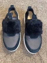UGG Pico Black Neoprene Suede Fashion Sneakers Women's 7 Wedge Heel - $44.54