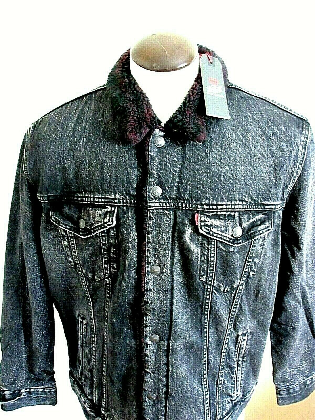 Levis Justin Timberlake Mens Fresh Leaves Sherpa Trucker ...
