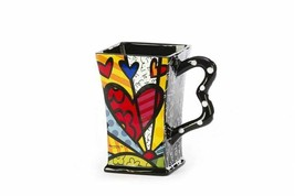 Romero Britto Ceramic Square A New Day 14 oz Gift Box  #3303012