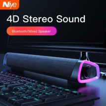 Computer Speakers USB Powered Small PC Speakers Colorful RGB Lights Surr... - $39.99