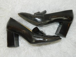 FENDI WOMENS SHOES DISTRESSED BROWN VINTAGE LOAFER CHUNKY HEEL SIZE 7M - $74.54
