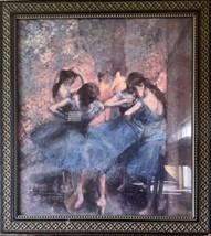 Edgar Degas Impressionism Dancers in Blue Art Print Framed Ballerinas Silhouette - $222.75