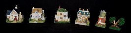 International Resources Liberty Falls 5 Miniature House & a Tree Figurines - $28.51