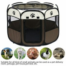Tent Dog House Portable Folding Pet Carrier Playpen Round Octagon Fence ... - $29.95