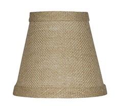 "Urbanest Chandelier Lamp Shade 3x5x4.5"", Hardback, Clip On, Burlap - $9.96"