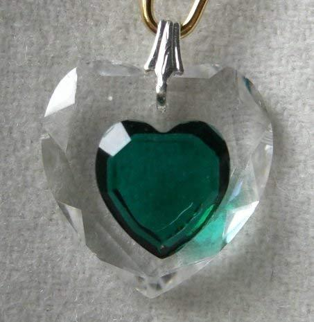 J'Leen Emerald Enhanced 18mm Crystal Heart Prism