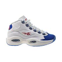 Reebok Question Mid Big Kids' Shoes White-Royal Red FV8122 - $80.00