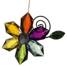 Crystal Expressions Acrylic 4 Inch Rainbow Flower Ornament - $5.90