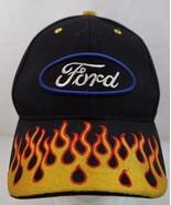 Ford Flames Hat/Cap Black Adjustable Crown Headwear Quality - $18.99