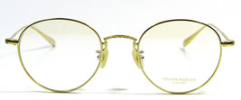 New Oliver Peoples OV1175TD 5016 Gold Titanium Eyeglasses 48mm - $337.52