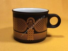 Midas Hornsea England Black & Gold Oven to Tableware Mug Cup EUC - $39.99