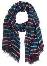 Calvin Klein Logo Stripe Pashmina Scarf - $16.82