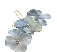 10 PCS Elegant Flower Shape Hair Pins/Clips Headwears, Blue image 2