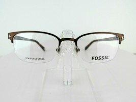 Fossil Will (058Z) Matte Chocolate 52 X 19 145 mm Eyeglass Frames - $47.96