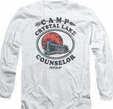Friday the 13th Jason Camp Crystal Lake Counselor Horror Long Sleeve Tee WBM622 image 3