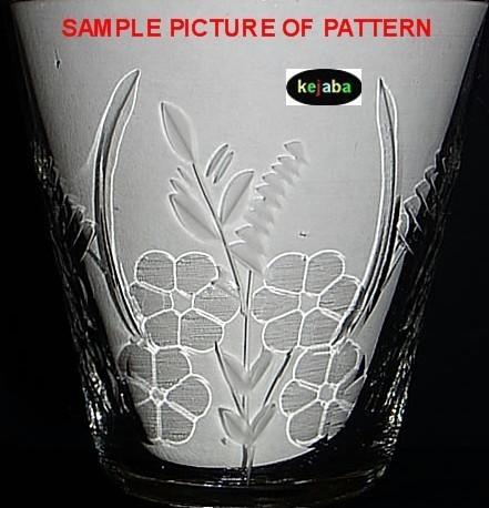 Libbey Rock Sharpe Fern Pattern Crystal Water Stem