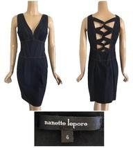 Nanette Lepore Hard Candy Denim Dress Corset Top V-Neck 6 - $231.13 CAD