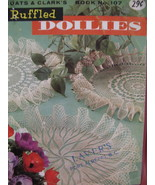 Vintage Ruffled Doilies Doily Crochet Pattern Booklet - $5.99