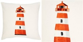 "Lighthouse Pillow Cover – 18"" x 18"" - $59.39"