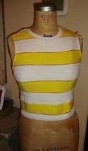 An Italian Theory 10 X 10 Alessandro Enriquez Yellow & White knit top cr... - $54.39