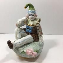 Vintage Schmid Porcelain Clown Musical Figurine (plays Fascination) - $17.82