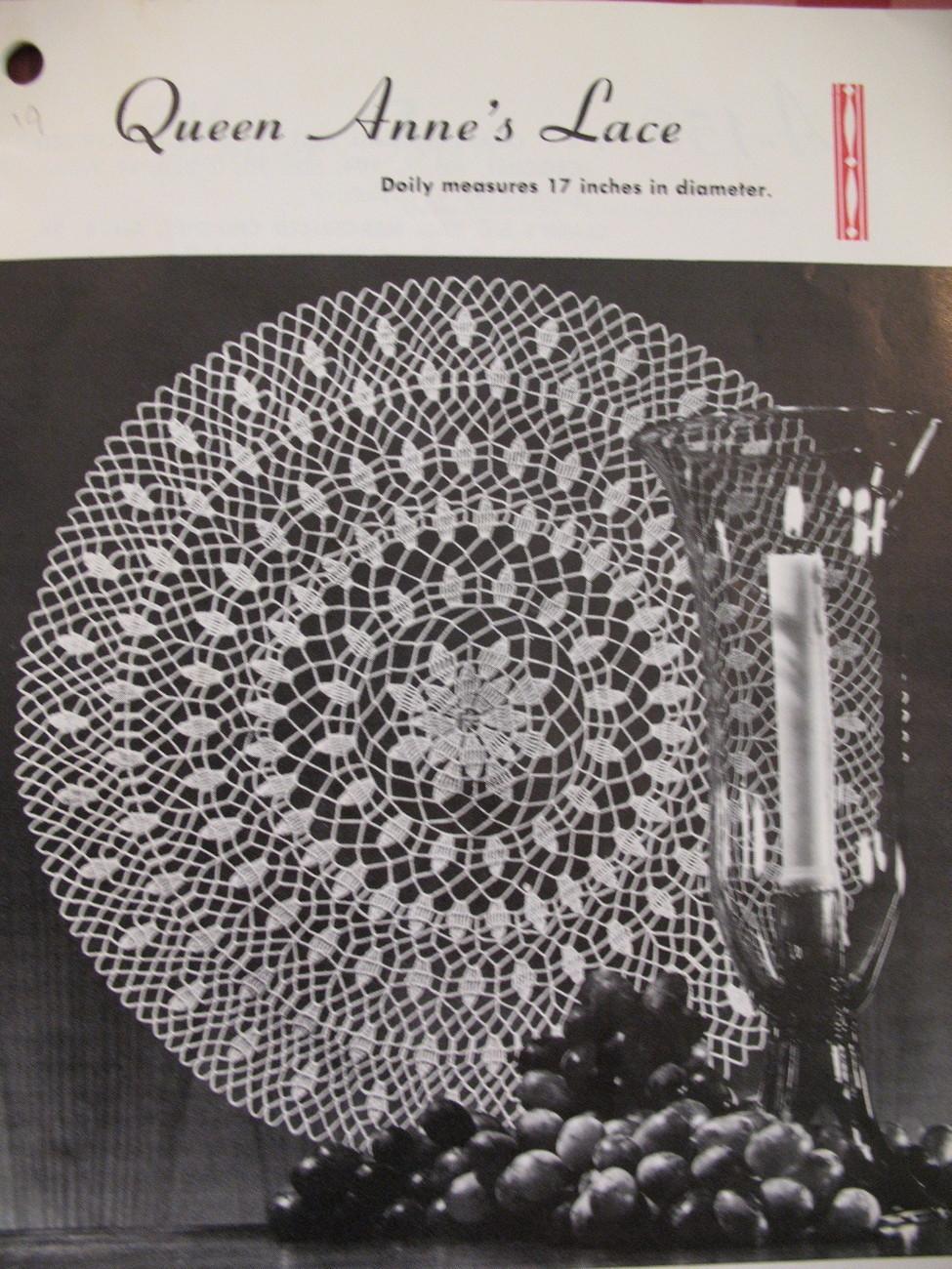 Vintage Doilies Doily Crochet Knit Tat Pattern Booklet