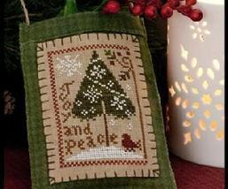 Joy and Peace Ornament 2011 Series #9 pattern Little House Needleworks - $5.40
