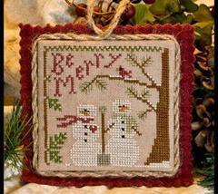 Snow In Love Ornament 2011 Series #10 pattern Little House Needleworks - $5.40