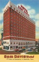 Hotel Sam Davis Cars 7th Avenue at Commerce, Nashville, Tenn. Postcard 2... - $12.12