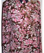 Rose Brown and Beige Chrysanthemum Print Lycra Stretch Fabric 1 yard 23 ... - $30.00
