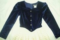 PICTURE ME Blue Velvet Holiday Christmas Dress Juniors Size 3