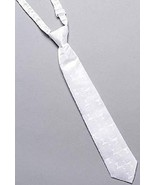 """Boys First Communion Tie Ties in White 13"""" Adjustable - $7.91"""