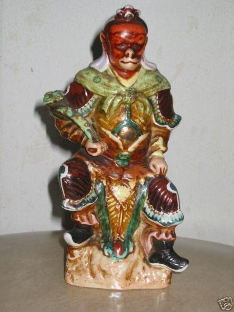 taoist monkey god sunwukong scepter statue figurine unknown
