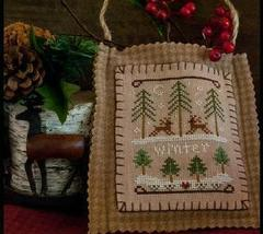 Winter Forest Ornament 2011 Series #11 pattern Little House Needleworks - $5.40