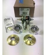 Schlage FC21 ALX 608 ALD Alexandria Glass Knob w/ Alden Trim Hall-Closet... - $53.99