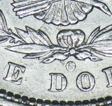 "1891-O ""E"" Clash Morgan Dollar; Choice AU; VAM-1A, Top 100! - $346.49"