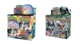 Pokemon TCG Sun & Moon Cosmic Eclipse + Fates Collide Booster Box Bundle image 1